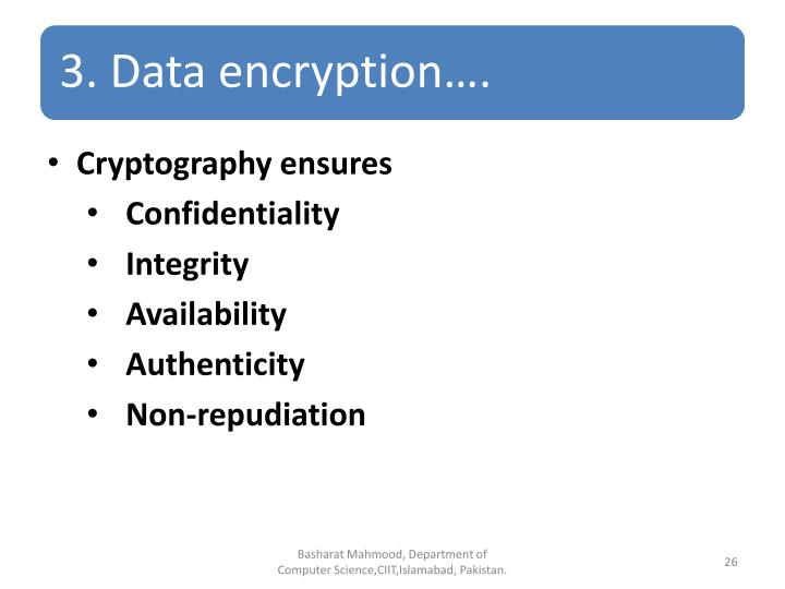 Cryptography ensures