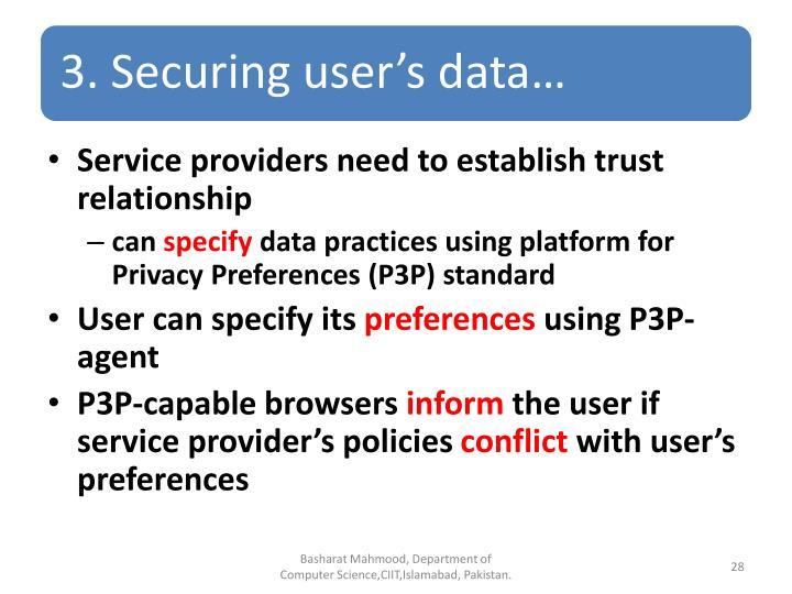 Service providers need to establish trust relationship