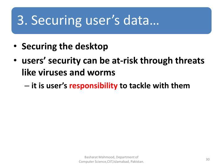 Securing the desktop