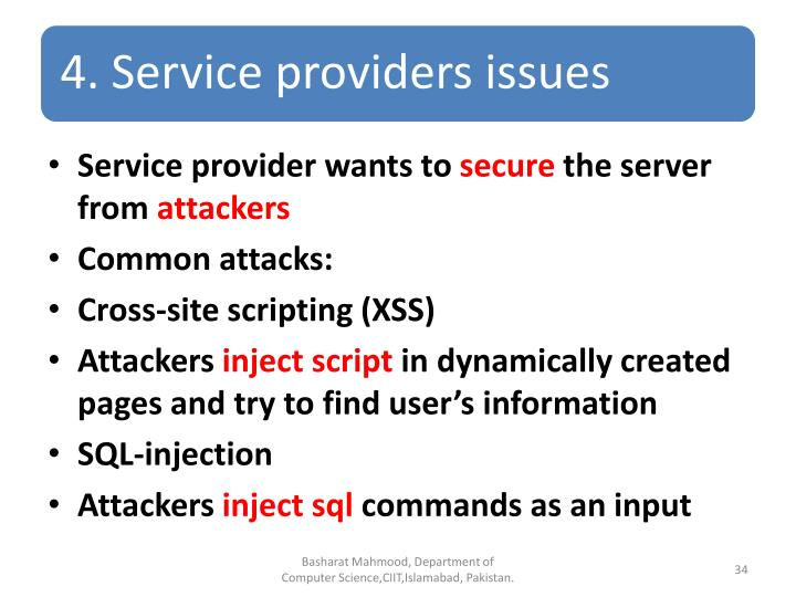 Service provider wants to