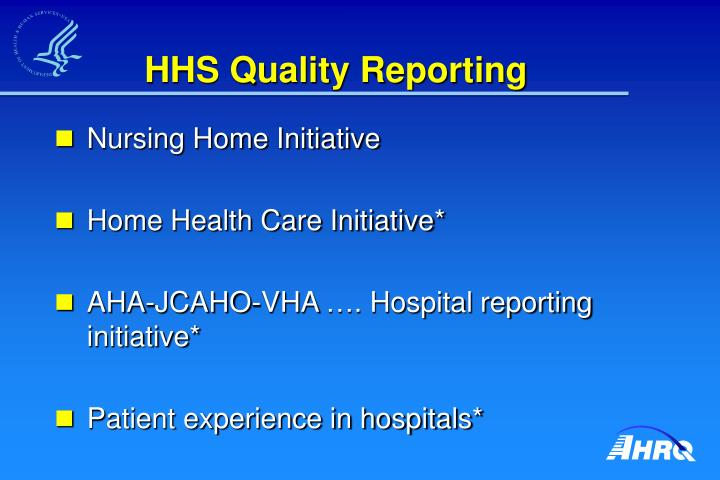 HHS Quality Reporting