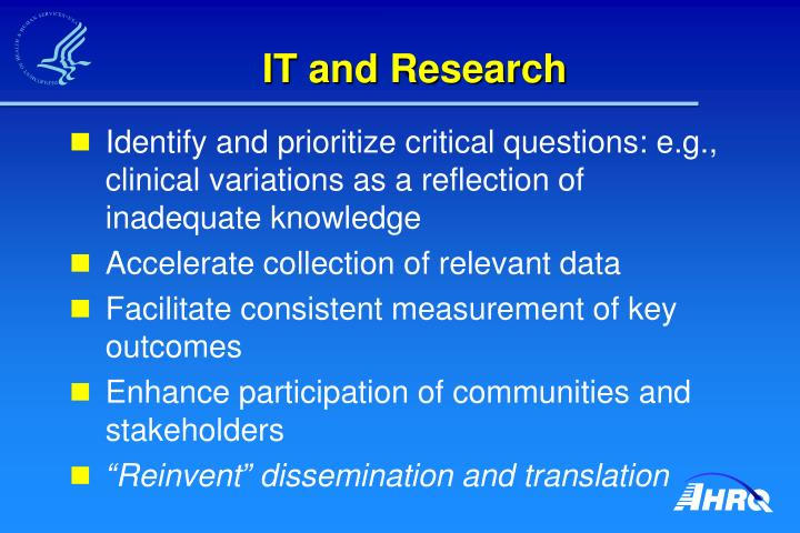 IT and Research