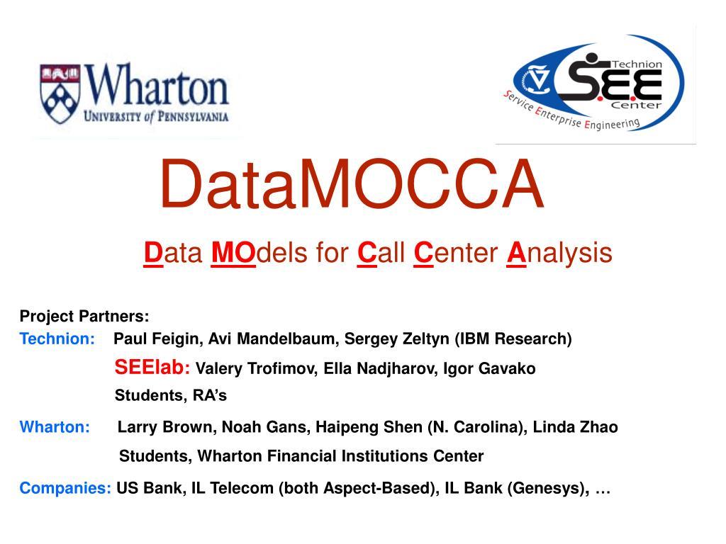 PPT - DataMOCCA PowerPoint Presentation - ID:5586932