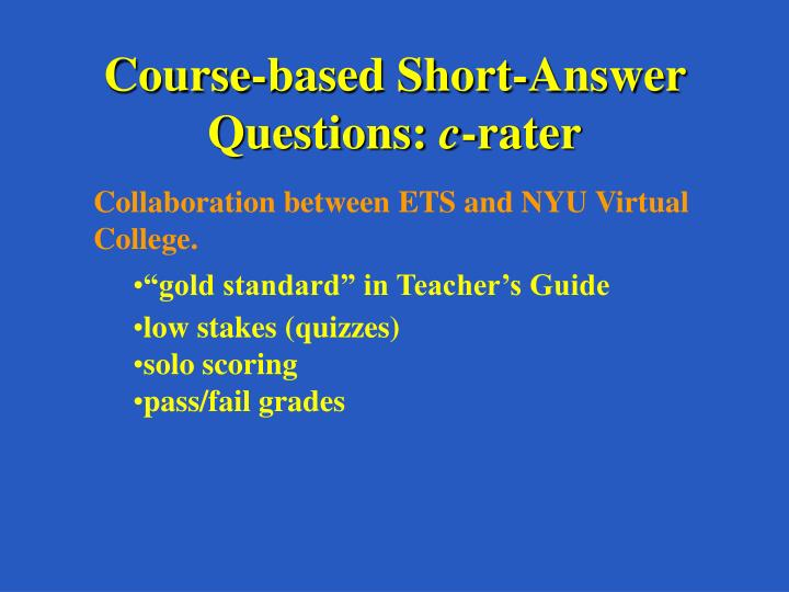 Course-based Short-Answer Questions: