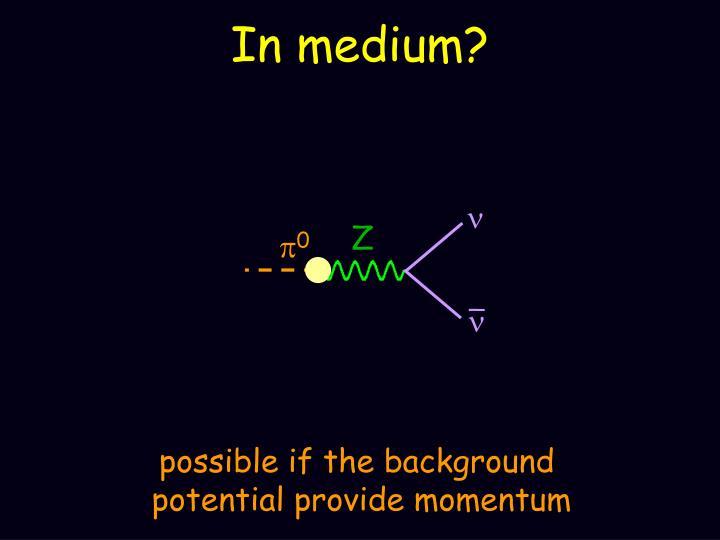 In medium?