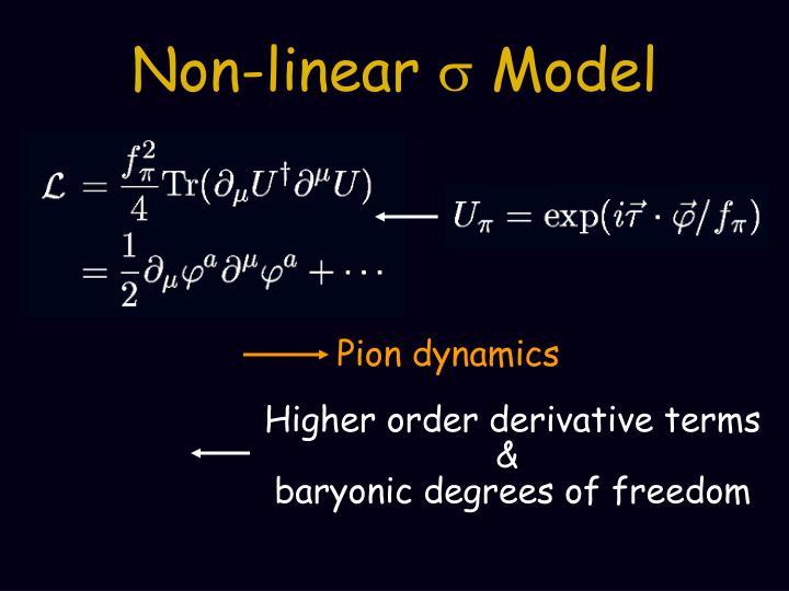 Non linear s model