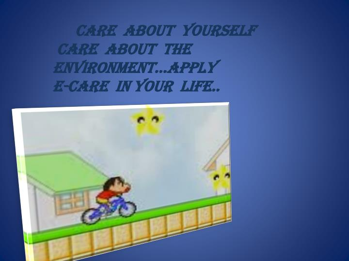 CARE  ABOUT  YOURSELF