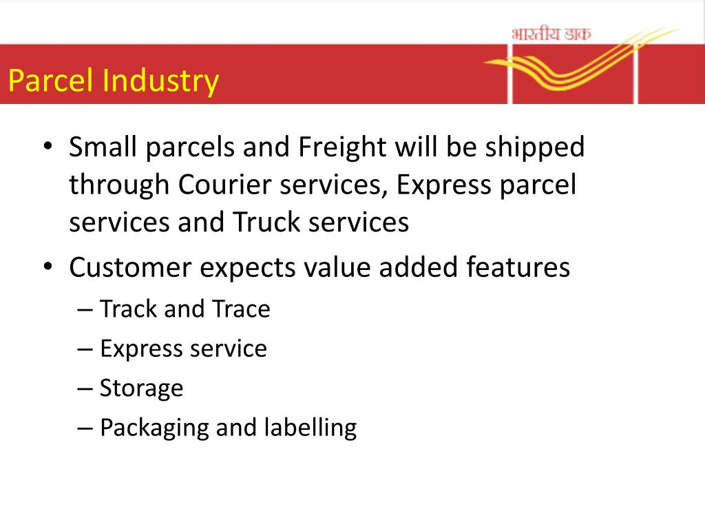 PPT - Parcel business Opportunities for India post PowerPoint