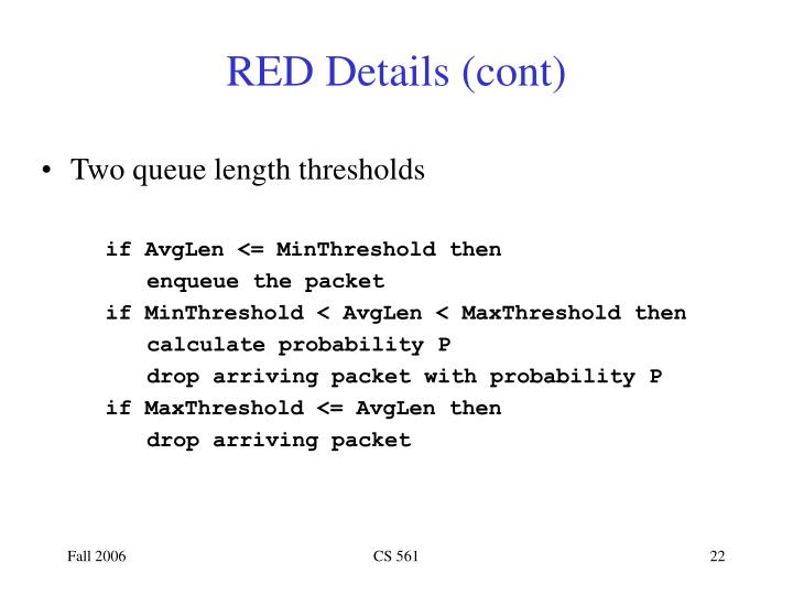 RED Details (cont)