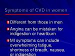 symptoms of cvd in women