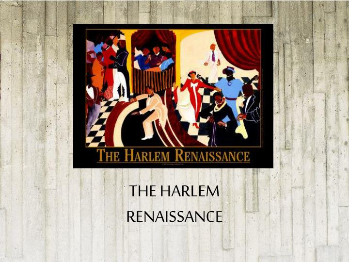 an analysis of the harlem renaissance period