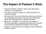 the impact of pasteur s work