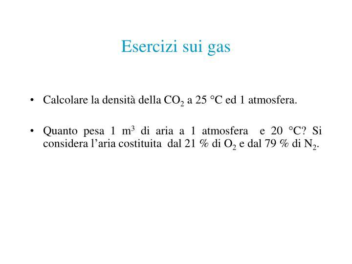 Esercizi sui gas