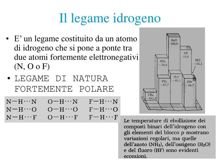 Il legame idrogeno