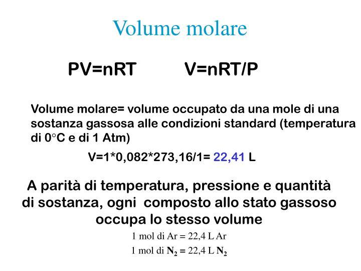 Volume molare