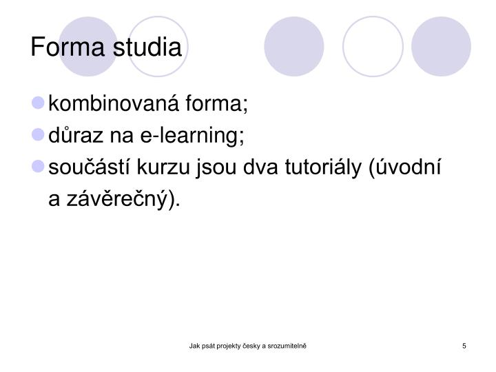 Forma studia