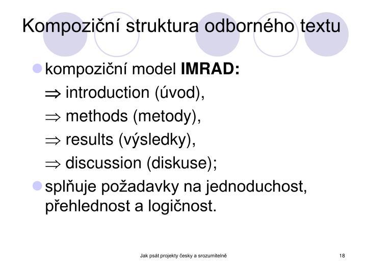 Kompoziční struktura odborného textu