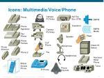 icons multimedia voice phone
