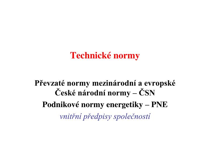 Technick normy