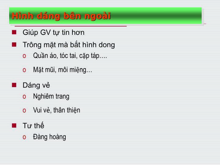 Giúp GV tự tin hơn