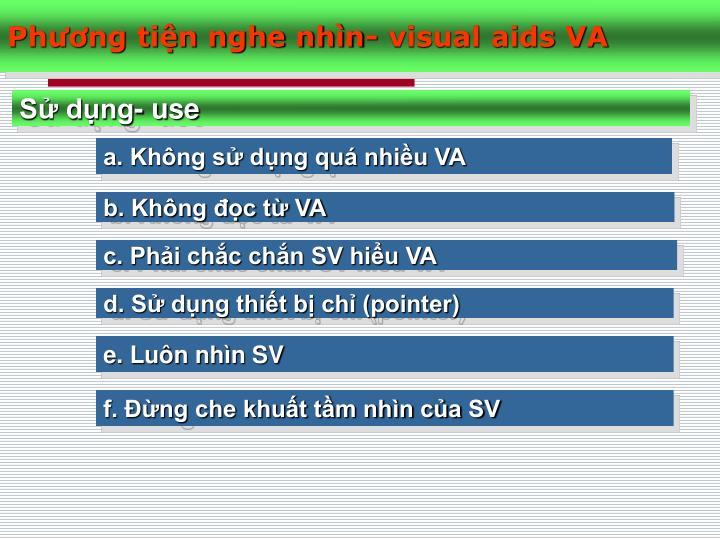 Phương tiện nghe nhìn- visual aids VA