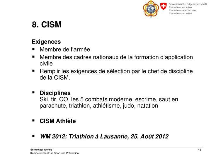 8. CISM
