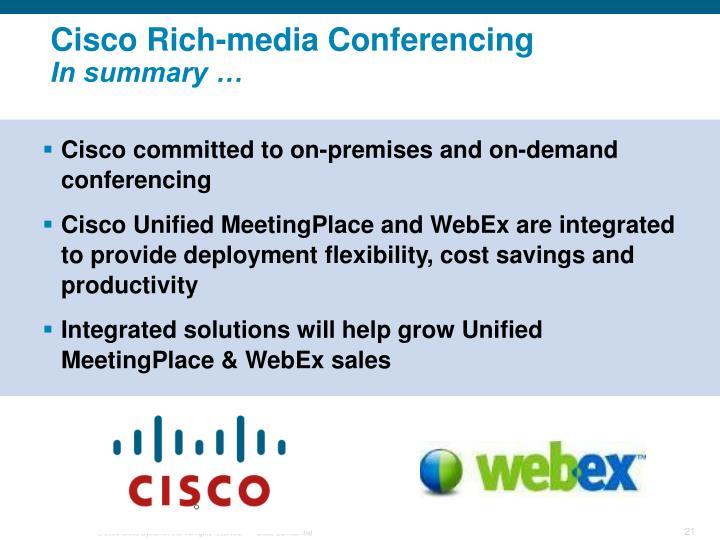 Cisco Rich-media Conferencing