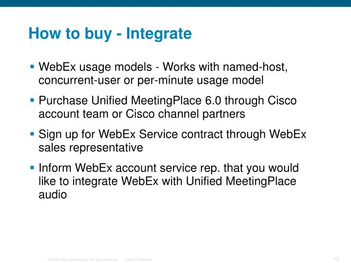 How to buy - Integrate