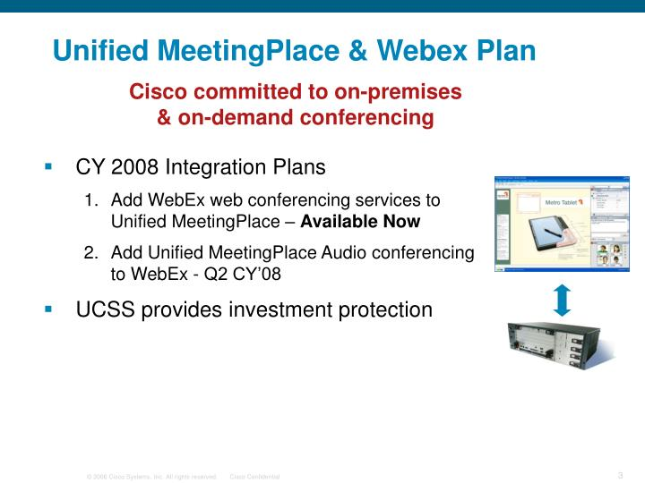 Unified meetingplace webex plan
