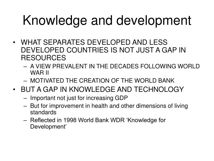 Knowledge and development