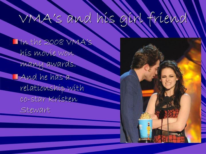 VMA's and his girl friend