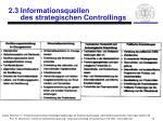 2 3 informationsquellen des strategischen controllings3