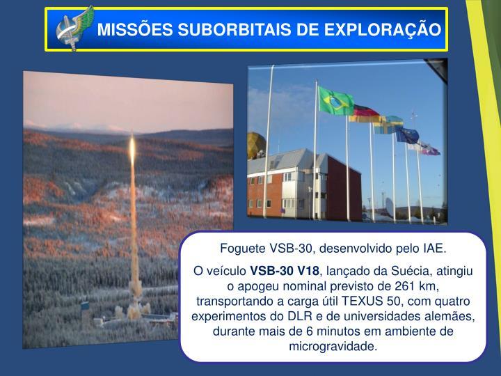 MISSÕES SUBORBITAIS DE EXPLORAÇÃO