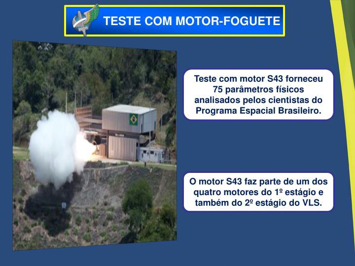 TESTE COM MOTOR-FOGUETE
