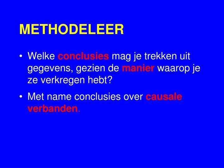 METHODELEER
