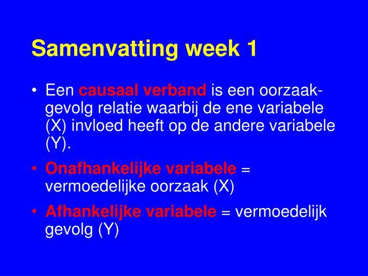 Samenvatting week 1