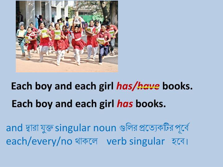 Each boy and each girl