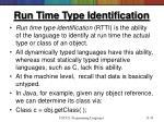 run time type identification