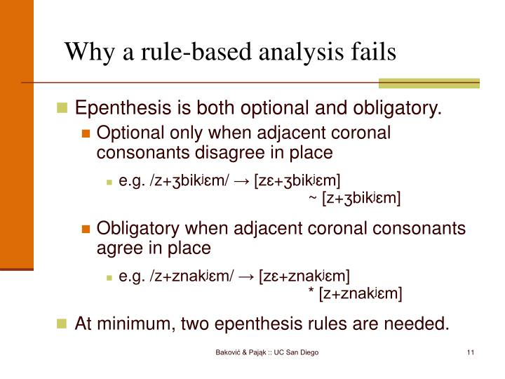 Why a rule-based analysis fails