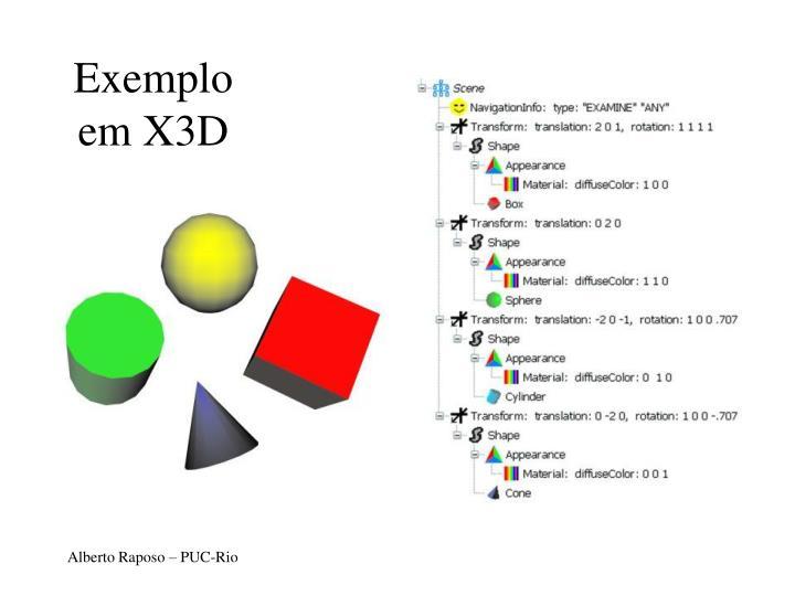 Exemplo em X3D