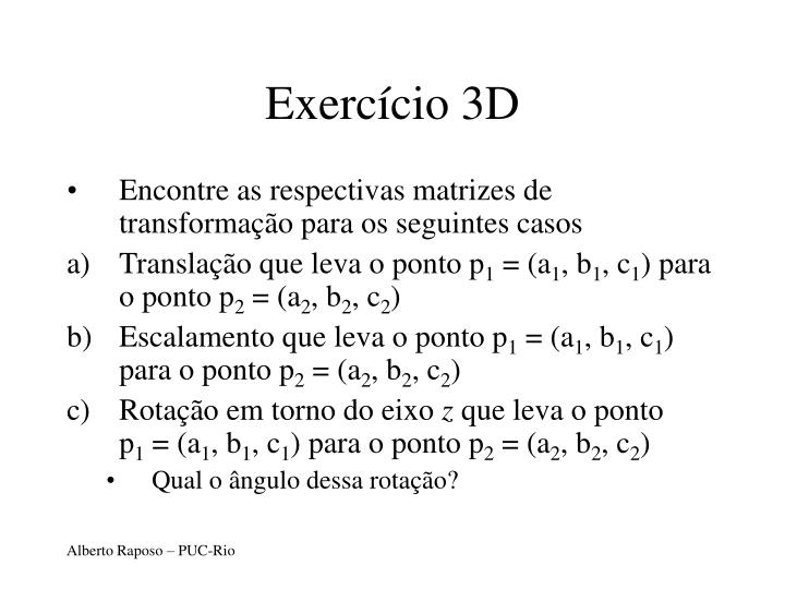 Exercício 3D