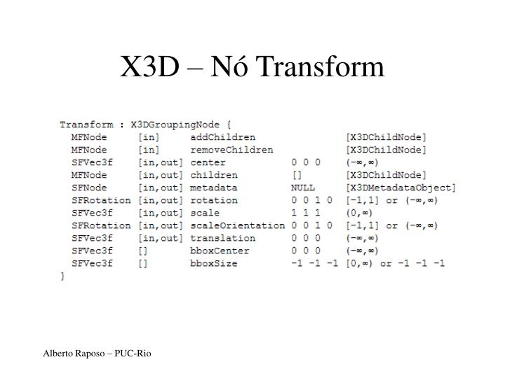 X3D – Nó Transform