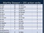 martha stewart 191 action verbs