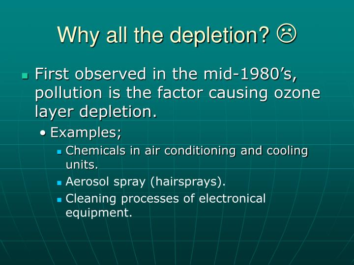 Why all the depletion?