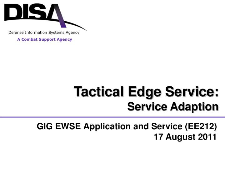 Gig ewse application and service ee212 17 august 2011