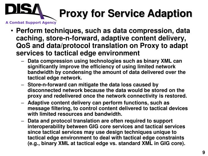 Proxy for Service Adaption