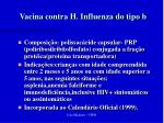vacina contra h influenza do tipo b