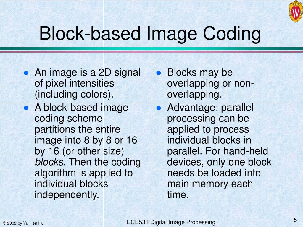 PPT - Introduction to Image and Video Coding Algorithms