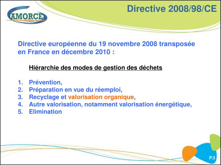 Directive 2008 98 ce