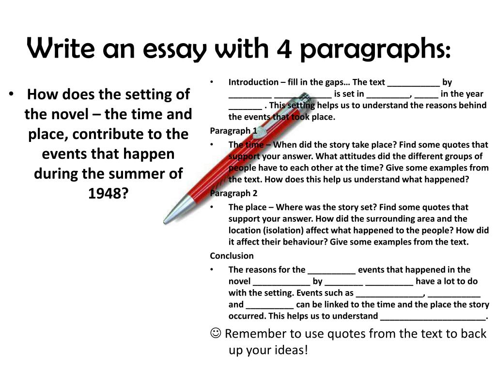 Essay summary paragraph
